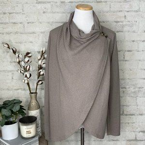 Maurices   Solid Gray Asymmetrical Cardigan